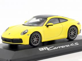 Porsche 911 (992) Carrera 4S coupe year 2019 racing yellow 1:43 Minichamps
