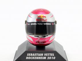 S. Vettel Red Bull GP Hockenheim Formel 1 Weltmeister 2010 Helm 1:8 Minichamps