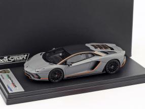 Lamborghini Aventador S Baujahr 2017 matt grau / orange 1:43 LookSmart