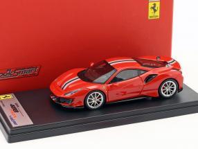 Ferrari 488 Pista Baujahr 2018 Geneva Motorshow 2018 Configuration rot / silber 1:43 LookSmart