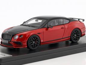 Bentley Continental GT Supersports Baujahr 2017 schwarz / rot metallic 1:43 LookSmart