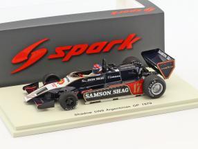 Jan Lammers Shadow DN9 #17 Argentinien GP Formel 1 1979 1:43 Spark