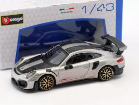 Porsche 911 (991 II) GT2 RS Street Fire silver 1:43 Bburago