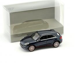 Porsche Macan Turbo year 2013 blue metallic 1:87 Minichamps
