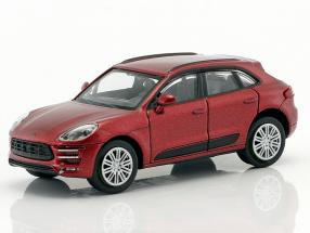 Porsche Macan Turbo year 2013 red metallic 1:87 Minichamps