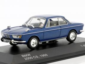 BMW 2000 CS year 1966 blue metallic 1:43 WhiteBox