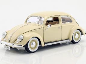 Volkswagen VW Käfer Beetle cream 1955 1:18 Bburago
