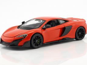 McLaren 675LT year 2017 orange red 1:24 Welly