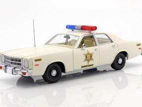 Plymouth Fury year 1977 TV series The Dukes of Hazzard (1979-1985) White 1:18 Greenlight