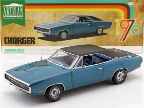 Dodge Charger 500 SE Baujahr 1970 blau / schwarz 1:18 Greenlight