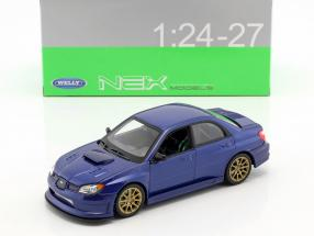 Subaru Impreza WRX STi year 2010 blue 1:24 Welly