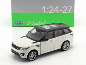 Range Rover Sport Baujahr 2015 weiß / schwarz 1:24 Welly