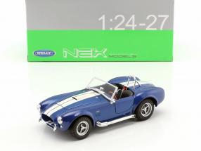 Shelby Cobra SC 427 year 1965 blue / white 1:24 Welly