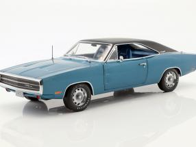 Dodge Charger 500 SE year 1970 blue / black 1:18 Greenlight