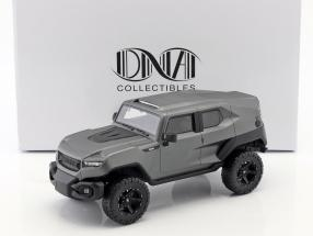 Rezvani Tank year 2018 mat silver gray 1:18 DNA Collectibles