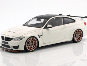 BMW M4 GTS year 2016 white with orange rims 1:18 Minichamps