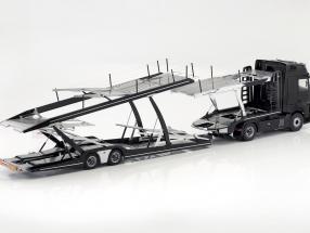Mercedes-Benz Actros 2 1863 Gigaspace Car transporter year 2018 black 1:18 NZG