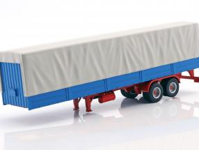 Truck trailer with plans blue / gray 1:43 Ixo