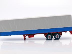 LKW-Anhänger mit Plane blau / grau