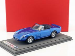 Ferrari 275 GTS/4 N.A.R.T Baujahr 1967 Steve McQueen blau metallic 1:18 BBR