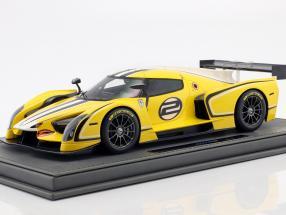 Glickenhaus SCG 003C Motorshow Genf 2015 gelb 1:18 BBR