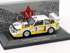 Audi Quattro Sport E2 Night Version 4th Rallye Monte Carlo 1986 Röhrl, Geistdörfer 1:43 CMR