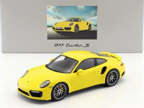 Porsche 911 (991) II turbo S racing yellow With Showcase 1:18 Spark