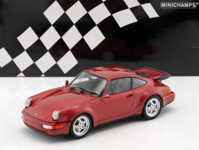 Porsche 911 (964) Turbo Baujahr 1990 rot metallic 1:18 Minichamps