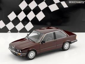 BMW 323i (E30) year 1982 dark red metallic 1:18 Minichamps