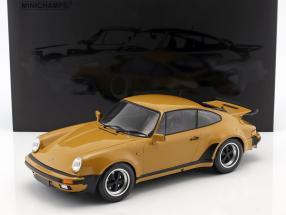 Porsche 911 (930) Turbo Baujahr 1977 tan gelb 1:12 Minichamps