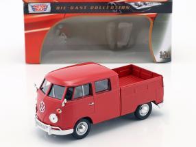 Volkswagen VW Type 2 double cabin red 1:24 MotorMax