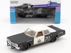 Dodge Monaco Bluesmobile Blues Brothers 1980 black / white 1:24 Greenlight
