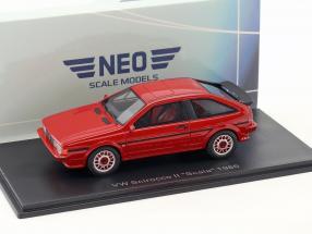 Volkswagen VW Scirocco II Scala Baujahr 1986 rot 1:43 Neo