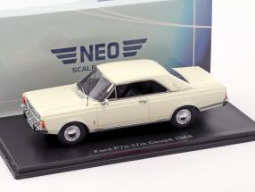 Ford Taunus P7b 17M Coupe Baujahr 1968 weiß 1:43 Neo