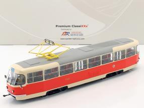 Tatra T3 Straßenbahn Prag beige / rot 1:43 Premium ClassiXXs