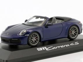 Porsche 911 (992) Carrera 4S Cabriolet Baujahr 2019 enzianblau 1:43 Minichamps