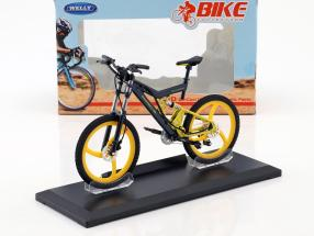 Bicycle Porsche Bike FS Evolution Grey / yellow 1:10 Welly
