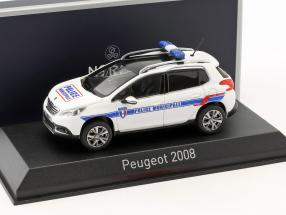 Peugeot 2008 year 2013 Police Municipale white / blue 1:43 Norev