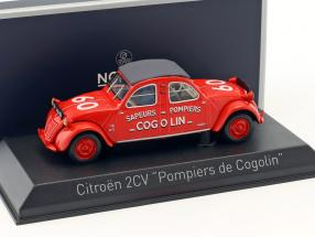 Citroen 2CV year 1961 Pompiers de Cogolin red 1:43 Norev