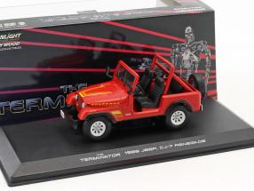 Sarah Conner's Jeep CJ-7 Baujahr 1983 Film Terminator (1984) rot 1:43 Greenlight