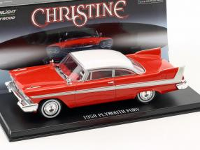 Plymouth Fury year 1958 Movie Christine (1983) red / white / silver 1:43 Greenlight