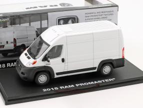 Ram ProMaster 2500 Cargo van year 2018 white 1:43 Greenlight