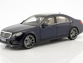 Mercedes-Benz S-Class AMG-Line year 2018 dark blue metallic 1:18 Norev