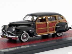 Chrysler Town & Country Wagon Baujahr 1942 schwarz 1:43 Matrix