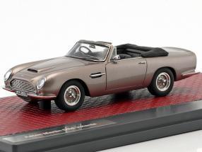 Aston Martin DB6 Volante Open Baujahr 1968 grau metallic 1:43 Matrix
