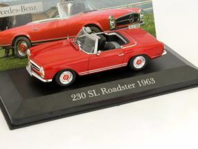 Mercedes Benz 230 SL Roadster (W113) year 1963 red 1:43 Ixo Altaya