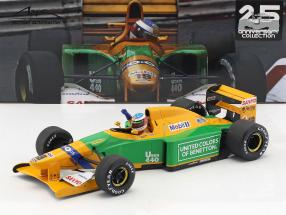 Michael Schumacher Benetton B192 #19 4th Monaco GP formula 1 1992 1:18 Minichamps