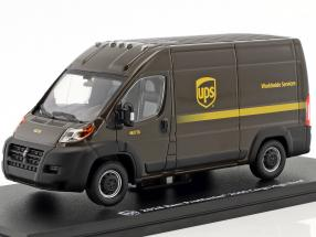 Ram ProMaster 2500 Cargo UPS van year 2018 brown 1:43 Greenlight