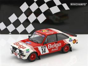 Ford Escort RS 1800 #14 3rd Lotto Haspengouw Rally 1983 Droogmanns, Joosten 1:18 Minichamps