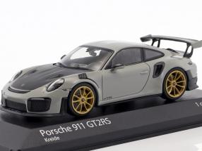 Porsche 911 (991.2) GT2 RS year 2018 chalk gray 1:43 Minichamps